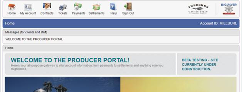 Welcome to the new producer portal thresher artisan wheat - Portal entree ownership ...
